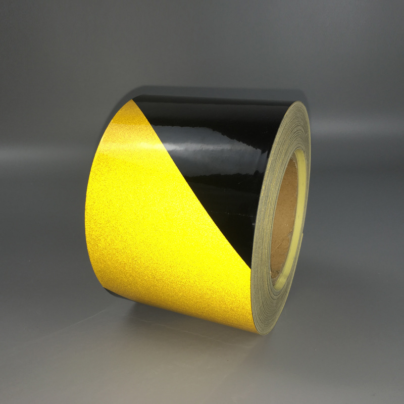 Yellow And Black Twill Reflective Adhesive Tape Reflective Warning Tape Warning/Cordon Adhesive Tape Reflective Film Processing