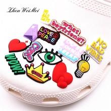 Обувь аксессуары одежда сумка любовь мир обувь амулеты круто вау красный сердце обувь украшение для Croc Jibz Kids Party X-mas подарки
