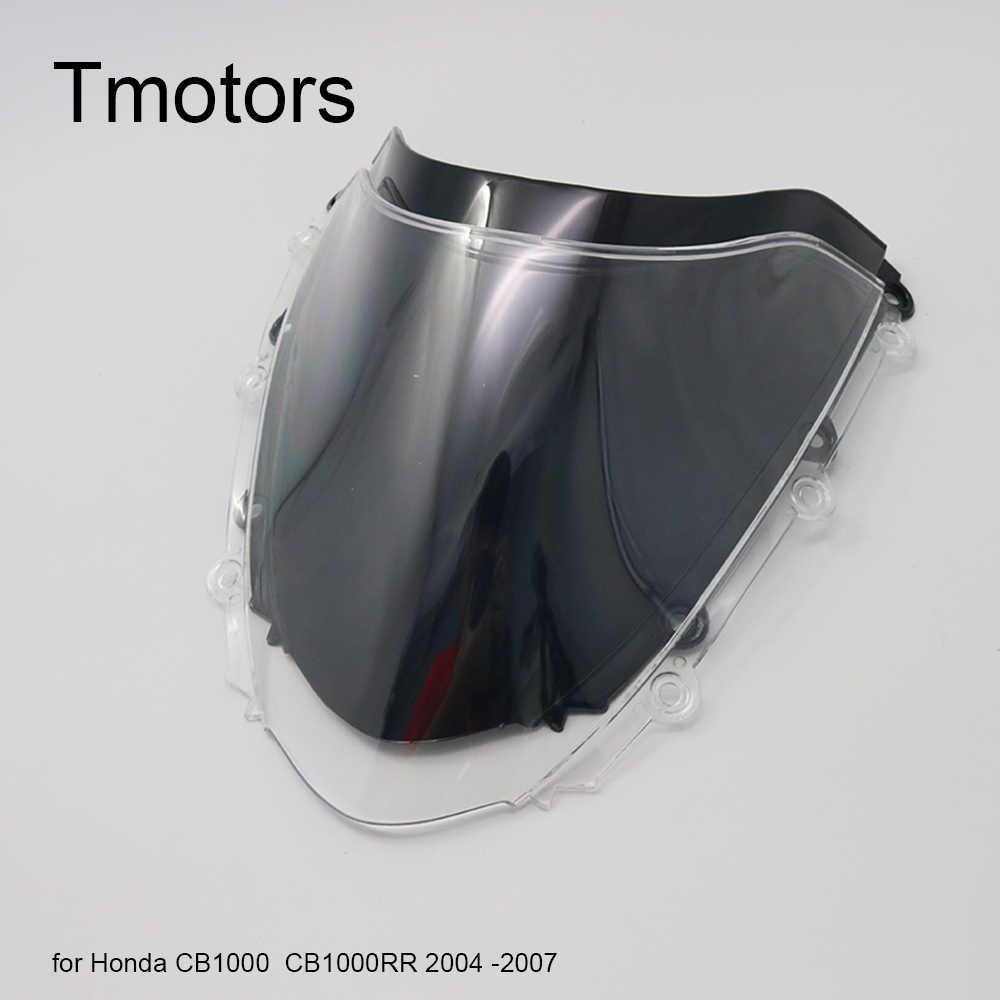 Black Voorruit Voorruit Double Bubble Voor Honda CBR 1000 RR 2004 2005 2006 2007 cbr 1000 rr CBR1000 cbr1000 CBR1000RR