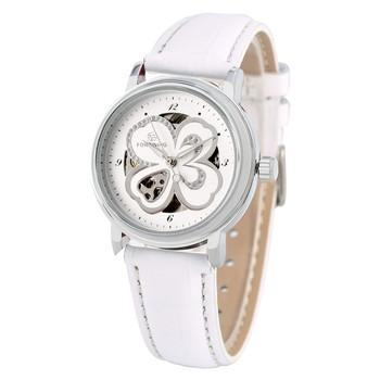 Luksusowe świecenia automatyczne zegarki mechaniczne własna wiatr dla kobiet unikalny kwiat kształt Dial Casual diament mechaniczne zegarki na rękę tanie i dobre opinie YISUYA Klamra 10Bar Ze stali nierdzewnej Moda casual Mechaniczna Ręka Wiatr W180701 24cm 13mm Z tworzywa sztucznego Okrągły