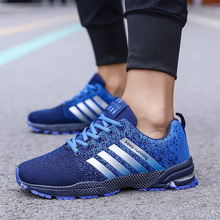 WINDRIDERISM 2019 Men Sneakers New Flyknit Cushion Damping Zapatos Para Correr Lightweight Wearable Anti-Skidding Casual Shoes