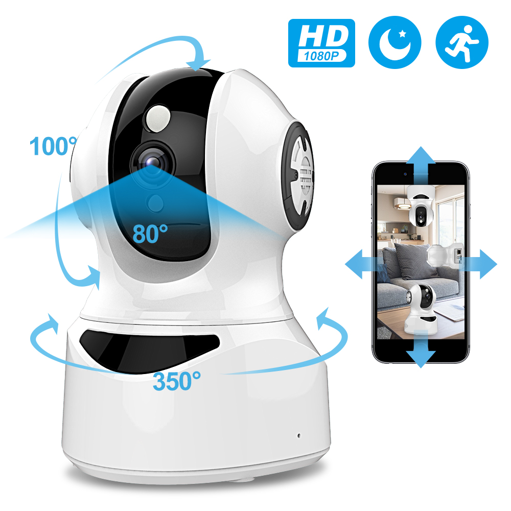 Flylinktech 1080P IP Camera 2-Way Audio HD Night Vision Motion Detection CCTV WiFi Ip Cameras Indoor Home Security Baby Monitor