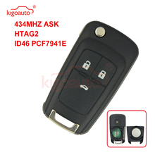 Kigoauto Cruze flip remote key 3 button 433 Mhz for Chevrolet car key with ID46 chip 2010 2011 2012 2013 2014 315 433 868 mhz smart remote key 4 buttons for bmw 3 5 7 series cas4 system 2009 2010 2011 2012 2013 2014 2015 2016 kr55wk49863