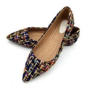 Image 5 - Lente Herfst Vrouwen Ballet Flats Schoenen Voor Vrouw Casual Loafers Enkele Schoenen Dame Zachte Werk Draving Schoeisel Zapatos Mujer