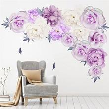 Peony Rose Flowers Wall Sticker Art Nursery Decals Kids Room Home Decor Gift mural