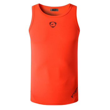 jeansian Sport Tank Tops Tanktops Sleeveless Shirts Running Grym Workout Fitness Slim Compression LSL3306 Orange