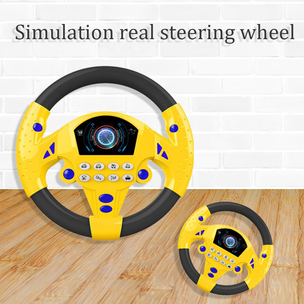 Baby Steering Wheel Musical Instruments Sound Simulation Electric Toys For Child Fashionable Parent-child Interactive Toy