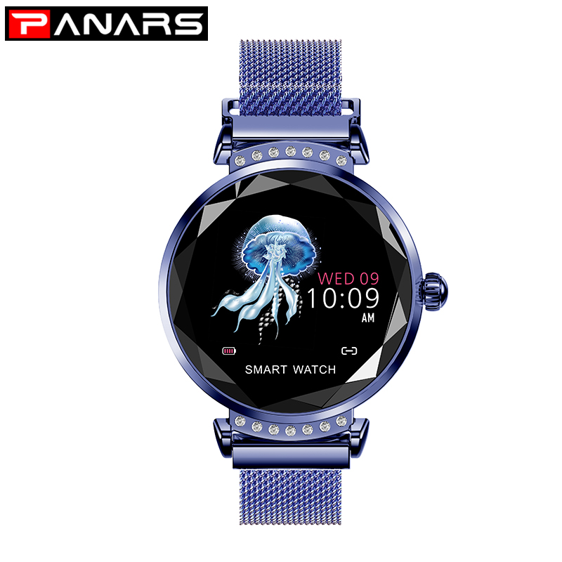 PANARS Smart Watch Women Rose Gold Ladies Watchea 2019 Luxury Color Screen Heart Rate IP67 Waterproof reloj inteligente mujer|Women's Watches| |  - title=