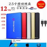 Disco duro externo SSD HD 2,5 de 8TB, dispositivo de almacenamiento de 10tb y 12TB, portátil, USB 3,0
