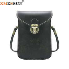 XMESSUN Women New Wallet Card Holder Female Retro Mobile Phone Bag Purse Shoulder Bag Trend Coin Purse Card Pack F295(China)
