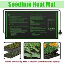 Нагревательный коврик для рассады 60x30 см, водонепроницаемый прорастание семян растений, клон, пусковая площадка 220 В, поставки для размножения растений