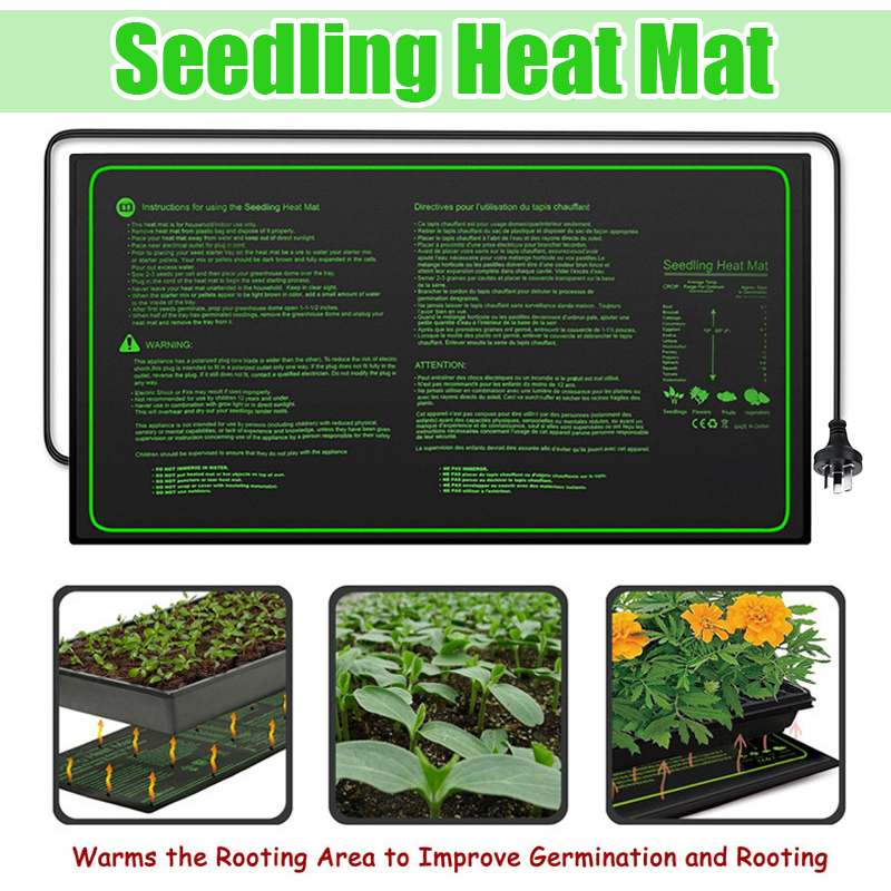 New Seedling Heating Mat 60x30cm Waterproof Plant Seed Germination Propagation Clone Starter Pad 220V Plant Propagation Supplies
