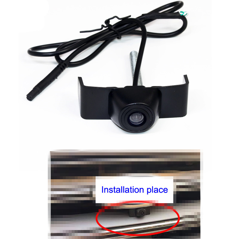 Night vision HD CCD Car frontview camera for Ford Edge 2015 2016 front view vehicle camera parking assistance waterproof