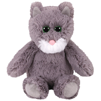 Ty Attic Treasures 15cm Kit the Grey Cat Plush Soft Fluffy Stuffed Animal Collectible Toy