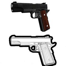 Firearm Gun M1911 3D Paper Model  Finished Length 21cm 1:1 Scale Handmade Puzzle Toy