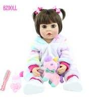 Muñeca de juguete Reborn de cuerpo de silicona para niños, 55cm, 22 pulgadas, recién nacido, Princesa, bebé, juguete para bañar, regalo de cumpleaños