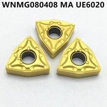 20PCS Carbide Insert WNMG080408 MA UE6020 CNC Tool Milling Cutter WNMG 080408 Lathe Tool CNC Tool Milling Cutter режущий инструмент mitsubishi wnmg080408 ma ue6110 ue6020