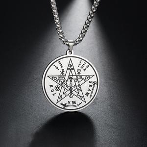 My Shape Tetragrammaton талисман подвеска Charm мужское ожерелье из нержавеющей стали Wiccan Pagen Pentacle pentложенный амулет ювелирные изделия в подарок