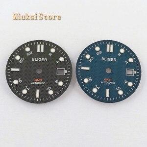 Image 2 - 1PCS 31.5mm sterile สีฟ้าสีดำนาฬิกา Dial Fit ETA 2836/2824 DG2813/3804 Miyota 8215 821A 8205 อัตโนมัติการเคลื่อนไหว P934 N
