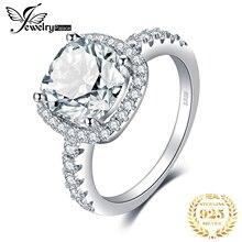 Jewelrypalace 3ct cz halo anel de noivado 925 anéis de prata esterlina para as mulheres anel de aniversário anéis de casamento prata 925 jóias