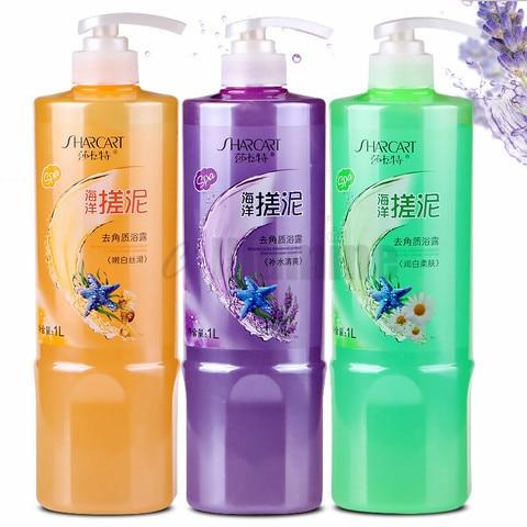 esfrega o gel esfoliante do banho do corpo da lama limpa remove o banho da