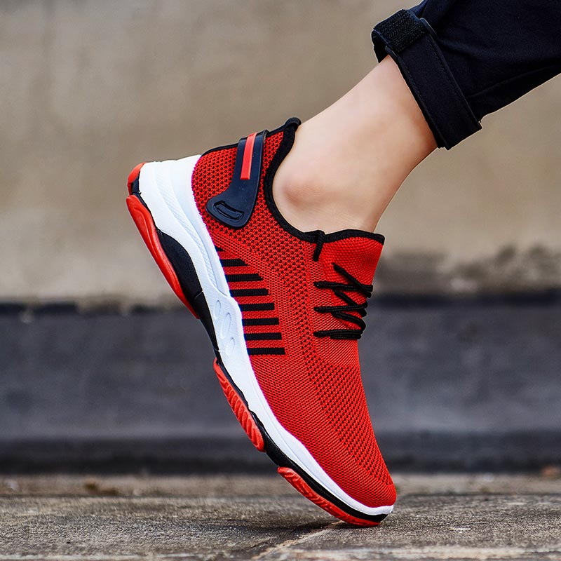 Summer Anti Slip Mens Shoes Running Sport Shoes Men's Sneakers For Sports Man Shoes Athletic Red Trainers Men Snickers Gym A-420
