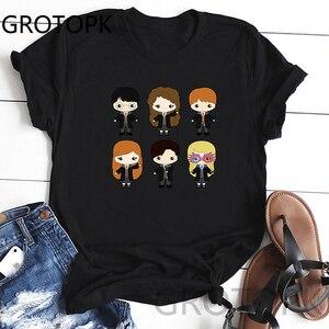 Harry, Ron And Hermione T Shirt Women Tumblr Black Summer Tshirt Vintage Streetwear Tee Shirt Femme Harajuku