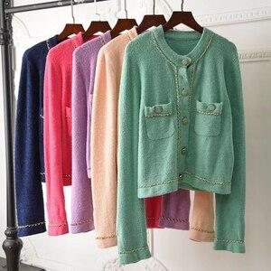 Image 1 - 2020 piste mode chaîne en or coloré femmes veste