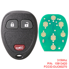 Remote Car Key Replacement 315Mhz 3 Buttons Remote Keyless Entry Remote Key Fob Car Key OUC60270 Fit for Chevrolet Buick цена
