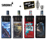 Electronic Ciagertte Original Smoant Pasito Vape Pod Kit with RBA Coil 3ML Atomizer 1100mAh Battery for MTL & DTL Top adjustable