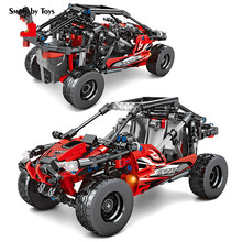 SMOBABY All Terrain Vehicle City Pull Back Off-road Mechanical Car Model Building Blocks Technic Racing Bricks Kids Toys Gifts sembo racing car technic building blocks pull back sports car speed champions enlighten bricks toys for boys kids gifts 608pcs