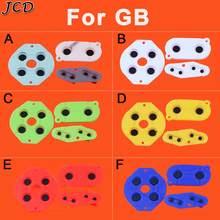 Jcd 6 Kleur Vervanging D-Pad Knop Geleidend Rubber Pads Voor Gameboy Classic Voor Gbo Gb Vet Dmg Richting een B Start Selecteer