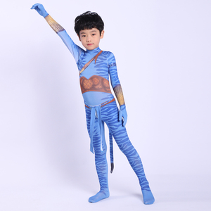 Image 4 - 2019 Avatar 2 Cosplay Costume Adult Kids Zentai Bodysuit Hero Jumpsuits Cosplay Halloween Kids Boy girl Party Costume