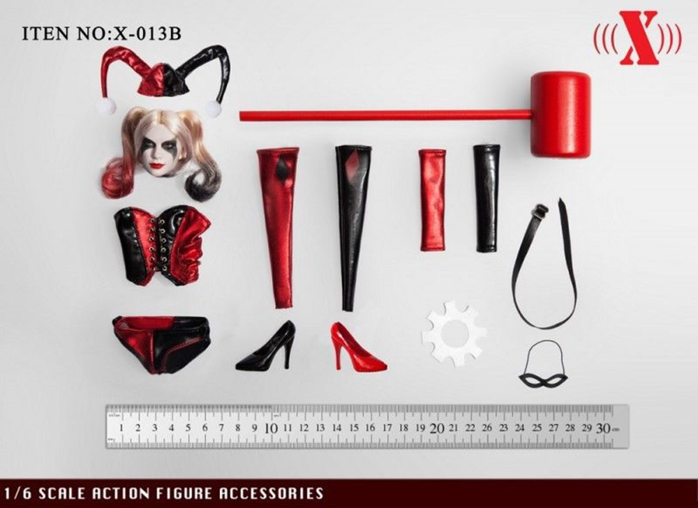 1 6 PVC X 013 Suicide Harry Quinn Female Joker Head Carved Model Head Sculpt for 12 39 39 Phicen TBL Pale Girl Figure Body Accessory in Action amp Toy Figures from Toys amp Hobbies