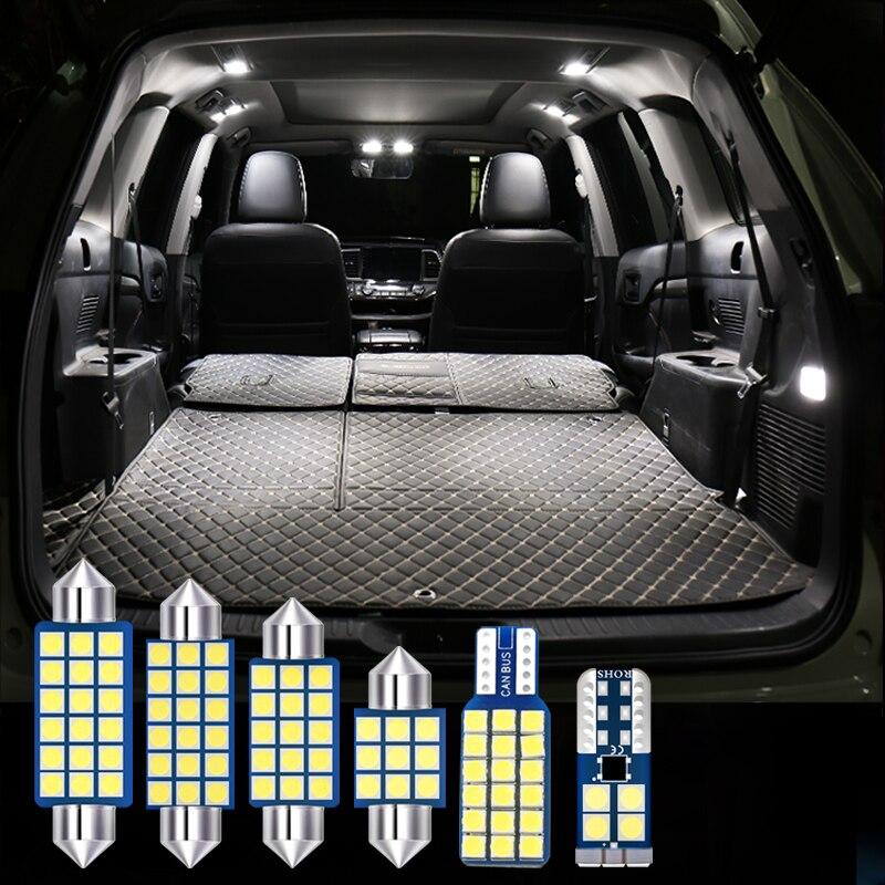 Для Audi Q5 8R SQ5 2008-2019 12v 14 шт. автомобиль светодиодный лампы внутренний купол для чтения настольная лампа косметическое зеркало подсветки перча...