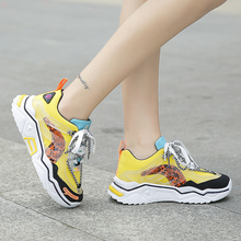 Fashion Women Vulcanized Shoes Comfortable Round Head Platfo