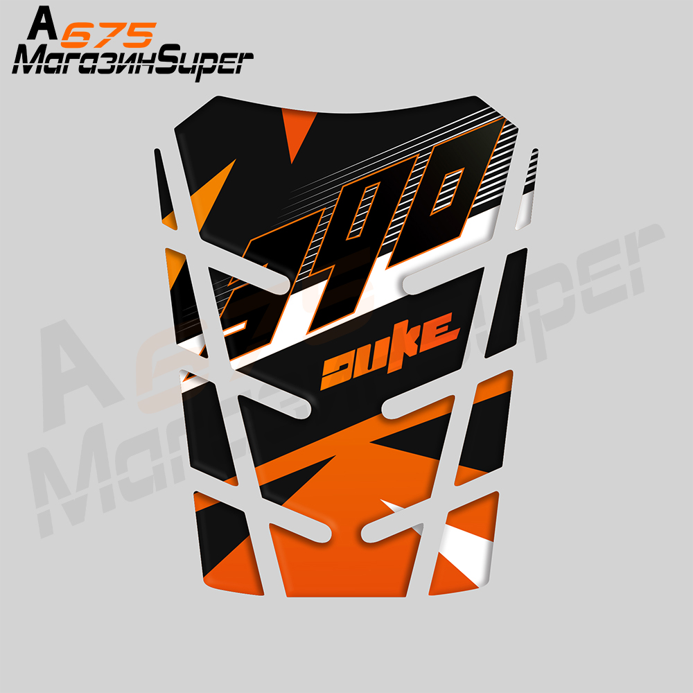 For KTM 390 DUKE KTM390 Universal Case Tank Cap Cover Motorcycle 3D Resin Raised Fuel Tank Pad Protector Decal Sticker