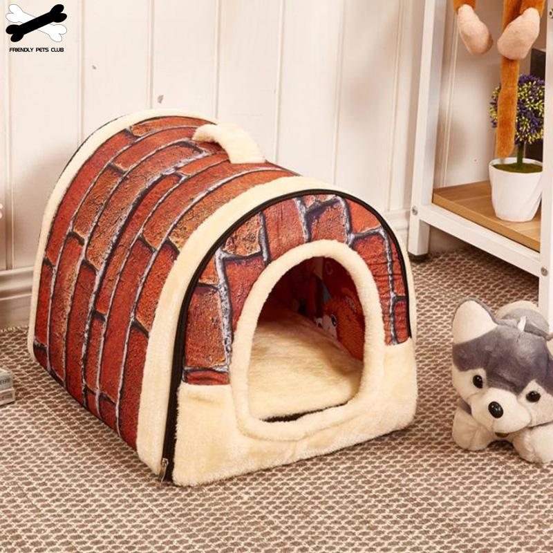 Large Pet Dog Bed cat house cave Comfortable Print Stars Kennel Mat For Pet Puppy Winter Summer Foldable Cat Bed Pet Supply