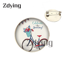 Zdying Animal ojos pupila broche Pin 25mm cristal Ojo de dragón cabujón de la foto insignia broches para ropa bolsa accesorios U063