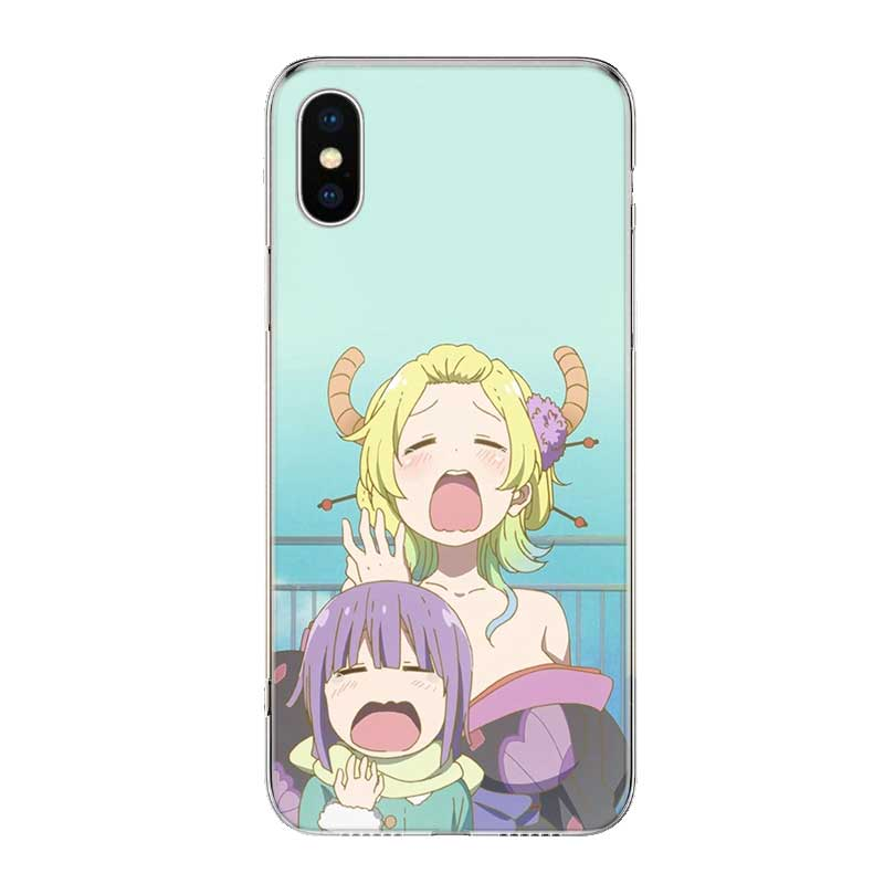 Uyellow Anime Girl Cartoon Lovely Cover For Iphone 5 6S 7 8 9 10 Plus Trend Silicone Soft Phone Case For Apple X XR XS MAX Coque in Fitted Cases from Cellphones Telecommunications