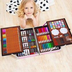 Conjunto de lápices Gouache de acuarela para niños, pincel de pintura artística, caja de regalo, juego de lápices de colores