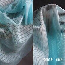 Кружевная фатиновая ткань аквамариновая полоса текстура сделай