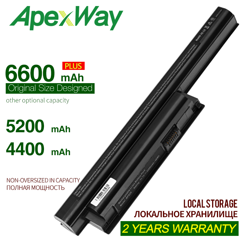 ApexWay 4400MAH Battery For SONY VAIO VGP-BPS26 BPS26 BPS26A SVE14115 SVE14116 SVE15111 SVE141100C SVE1411 For Vaio Vgp Bps26