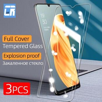 Перейти на Алиэкспресс и купить 1-3 шт полное покрытие закаленное стекло для OPPO A91 A5 A7 A7X A9 A9X K1 K3 K5 A3 Защита экрана для oppo R17 Pro защитное стекло
