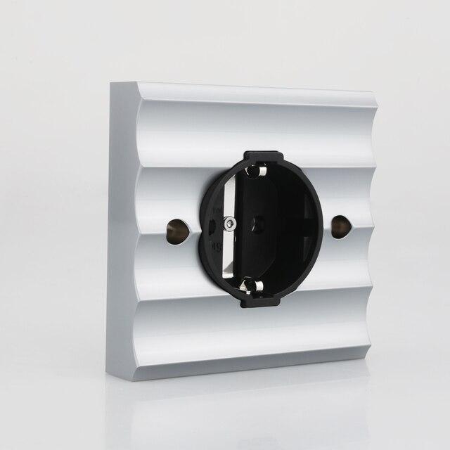 Viborg ve02r cobre puro ródio chapeado schuko soquetes schuko elétrica alemão europeu tomada de energia placa de parede 250v 16a