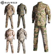 Multicam Camouflage Volwassen Unisex Security Militaire Uniform Tactical Combat Jas Speciale Kracht Training Leger Pak Cargo Broek(China)