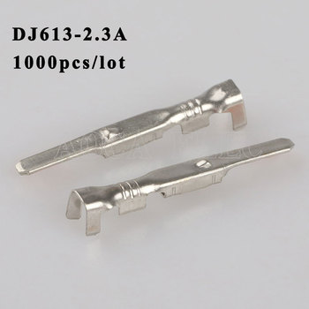DJ613-2.3A 1000PCS plug terminal Male female wire connector Plugs socket Fuse box Wire harness Soft Jacket car terminal plug