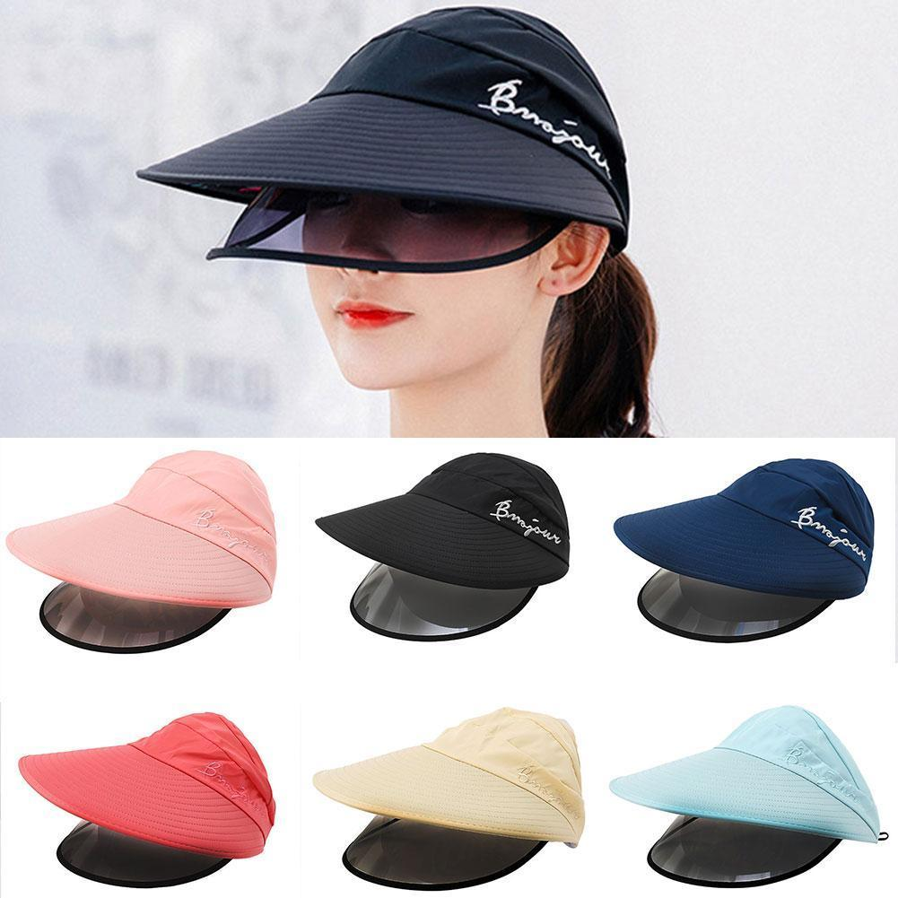 Summer Women Sun Hats Double-layer Big-edge Anti-UV Sun Anti-fog Anti-saliva Visor Windproof Hats Caps Hat Protective Face Care