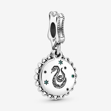 Fashion 925 Sterling Silver Beads  Fit Original Pandora Bracelets Harry Magician Snake Dangle Charm Women DIY Jewelry Gift недорого