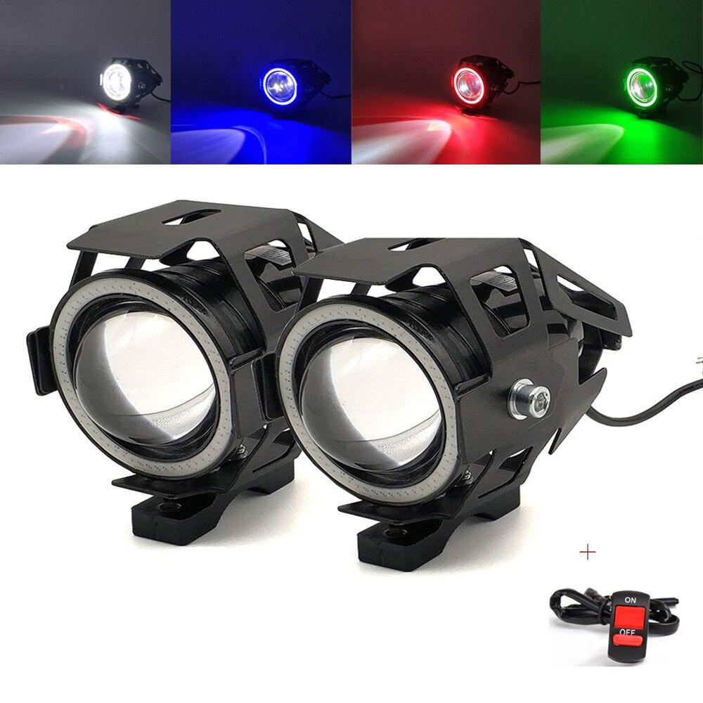2Pcs Motorcycle Headlights Front Spotlight 12V U7 LED Light Fog Lamp For Yamaha MT09 MT10 mt 07 09 10 mt-07mt-09 mt-10 FZ07 FZ09